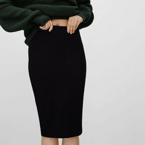 Wilfred Lis Pencil Skirt Knit Heather Nep Fabric S